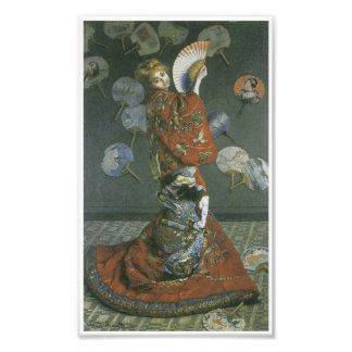 The Japanese Woman by Claude Monet Photographic Print
