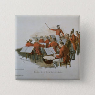 The Johann Strauss Orchestra at a Court Ball 15 Cm Square Badge