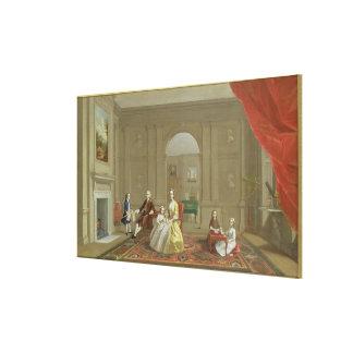 The John Bacon Family, c.1742-43 (oil on canvas) Canvas Print