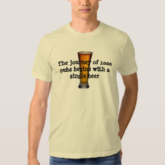 The journey of a 1000 pubs tee shirt