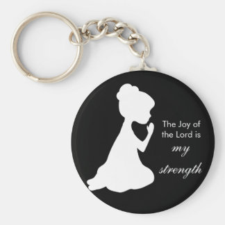 The Joy of the Lord Basic Round Button Key Ring