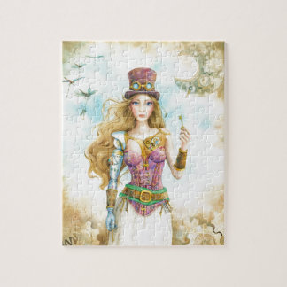 'The Key', Steampunk girl. Jigsaw Puzzle