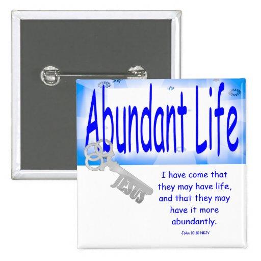 The Key to Abundant Life v2 (John 10:10) Buttons