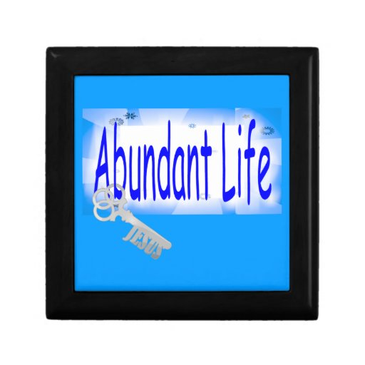 The Key to Abundant Life v2 (John 10:10) Jewelry Boxes