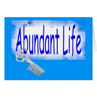 The Key to Abundant Life v2 (John 10:10) Greeting Card