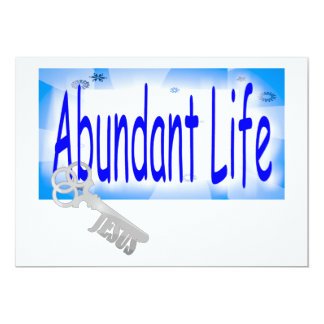 "The Key to Abundant Life v2 (John 10:10) 5"" X 7"" Invitation Card"