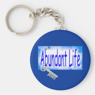 The Key to Abundant Life v2 (John 10:10) Key Chains