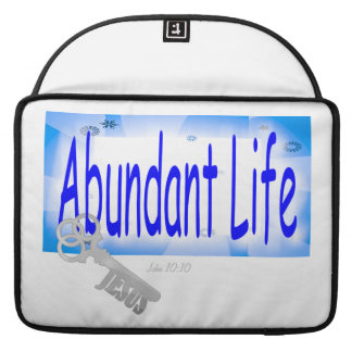 The Key to Abundant Life v2 (John 10:10) MacBook Pro Sleeves