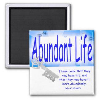 The Key to Abundant Life v2 (John 10:10) Magnet