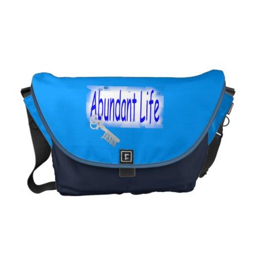 The Key to Abundant Life v2 (John 10:10) Commuter Bags