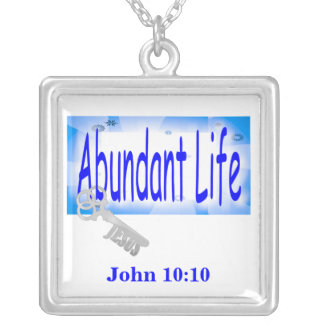 The Key to Abundant Life v2 (John 10:10) Pendant