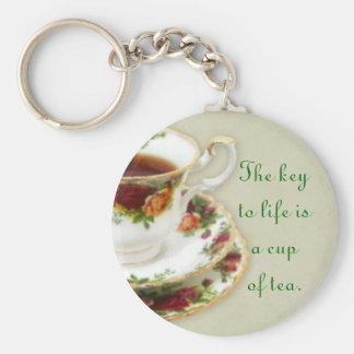 The Key To Life Basic Round Button Key Ring