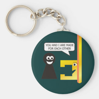 The Key to Life is Love - (Keychain) Basic Round Button Key Ring