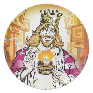 The King Loves You. Party Plate