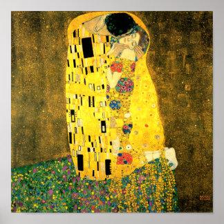 The Kiss by Gustav Klimt Fine Art Poster Print