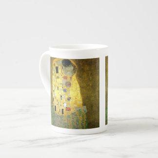 The Kiss by Gustav Klimt Bone China Mugs