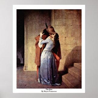 The Kiss By Hayez Francesco Print