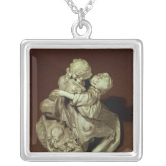 The Kiss, Sevres group, after Boucher, 1765 Silver Plated Necklace