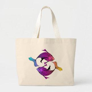 The Koi Dance Large Tote Bag
