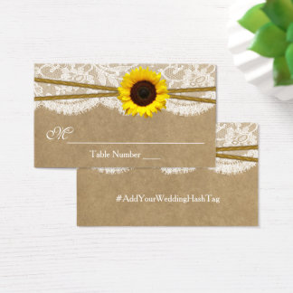 The Kraft, Lace & Sunflowr Wedding Escort Cards