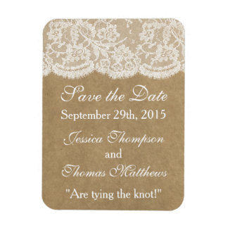 The Kraft & Lace Wedding Collection Magnet