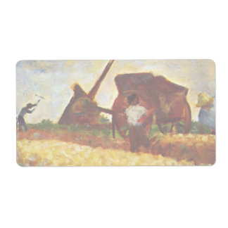 The Laborers by Georges Seurat Shipping Label