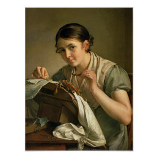 The Lacemaker, 1823 Poster