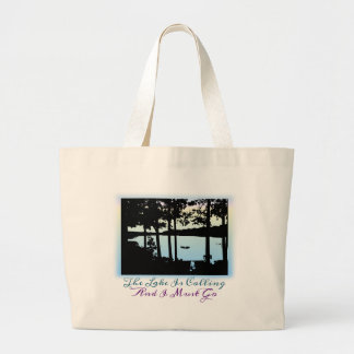 The Lake is Calling I Must Go Jumbo Tote Bag