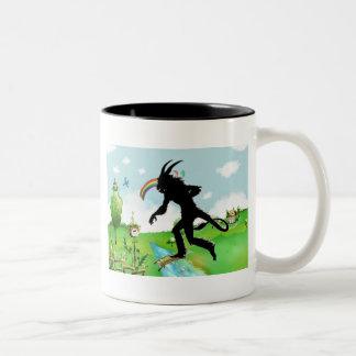 The Lamia Invades Happy Land Two-Tone Coffee Mug
