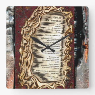 The Last Quiet Place Square Wall Clock
