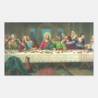 The Last Supper by Leonardo da Vinci Rectangular Sticker