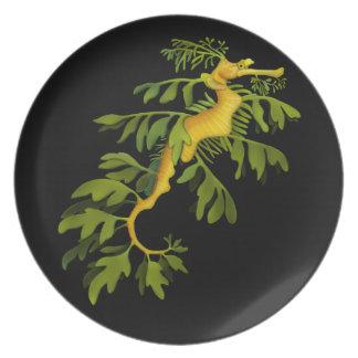 The Leafy Sea Dragon Art Plate