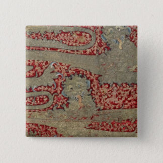 The Leopards of England, 15th century (tapestry) 15 Cm Square Badge