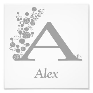 The Letter A - Boy's Wall Art - Template Photo Print