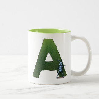 The letter A Two-Tone Coffee Mug