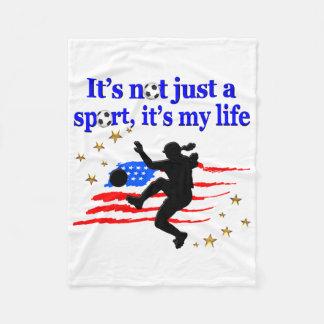 THE LIFE OF A USA SOCCER PLAYER DESIGN FLEECE BLANKET