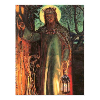 The Light of the World Painting Postcard