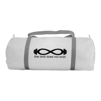 """""""the limit does not exist"""" gym bag"""