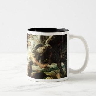 The Lion Hunt, 1621 Two-Tone Coffee Mug