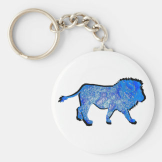 THE LIONS PRIDE BASIC ROUND BUTTON KEY RING