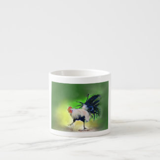 The Little Blue Rooster 6 Oz Ceramic Espresso Cup