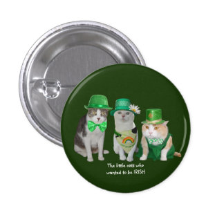 The Little Cats Who Wanted to be Irish 3 Cm Round Badge