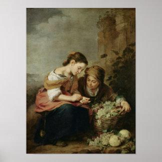 The Little Fruit-Seller, 1670-75 Poster