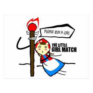 the little girl match TEST Postcard