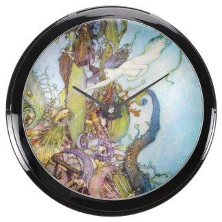The Little Mermaid vintage art aqua clock