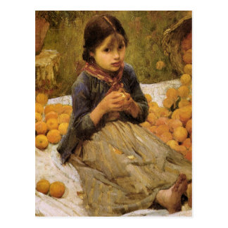 The Little Orange Gatherer Postcard