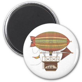The Locke Hackney Airship Flying Machine 6 Cm Round Magnet