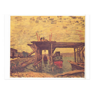 The Loing at Moret by Alfred Sisley Postcard