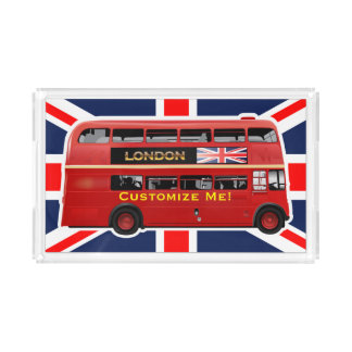 The London Red Bus Acrylic Tray
