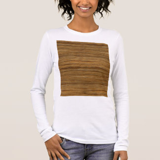 The Look of Driftwood Oak Wood Grain Texture Long Sleeve T-Shirt